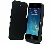 FLIP COVER CUSTODIA CON BATTERIA INTEGRATA DA 4200 MAH PER IPHONE 5 5S E 5C