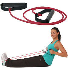 Msd TUBING ROUGE (MOYEN) + 2 BARRES Tuyau élastique Réhabilitation Gymnastique