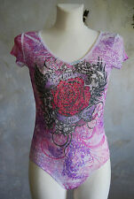 ultra gorgeous tie dye rose wing rock TATOO gems top LACE festival body made USA
