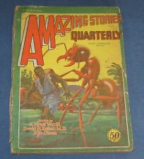 Amazing Stories Quarterly Fall 1929 Bedsheet Pulp Mag Classic Giant Ant Cover