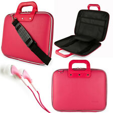 "NEW Pink Cady Laptop Shoulder Bag Case for Apple MacBook Pro/Air 13.3"" +Earphone"