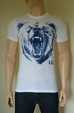 NEW Abercrombie & Fitch Bartlett Ridge White Vintage Bear Mascot Tee T-Shirt L
