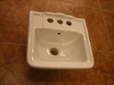 "Small Wall Mount Bathroom Sink 12.4""x11"" White"