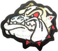 Iron On/ Sew On Embroidered Patch Badge Bulldog Bull Dog British Bulldog Head