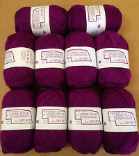 Brown Sheep Lambs Pride Superwash Sport Wt 100% Wool Majestic Violet 10 skeins