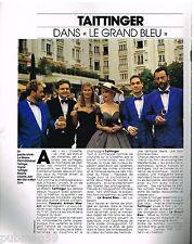 Publicité Advertising 1988 Le Champagne Taittinger film Le Grand Bleu
