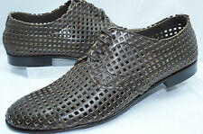 D&G Dolce & Gabbana Shoes Derby Vitello Brown Size 10 Men's Leather NIB