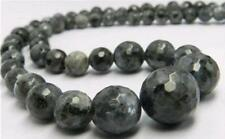 Faceted 6-14mm Natural Labradorite Gemstone Beads Necklace 18""