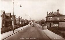 North Road Bellshill Nr Coatbridge Motherwell RP old pc late 1930's Valentines