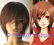 Vocaloid Meiko Cosplay Short Auburn Brown Wig + free wig cap