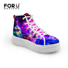Galaxy Ladies Womens Girl Ankle Hi High Top Trainers Baseball School Boots Shoes