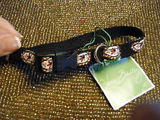 VERA BRADLEY Pet Collar (XS-S) CLASSIC BLACK Dog - Cat, Retired, New with Tags!