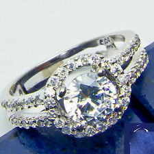 1.00ct Antique Style Russian CZ .925 Sterling Silver Ring Size 6