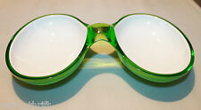 Guzzini Two Tone Acrylic Interlocking Serving Dish Bowl  Green Replacement Italy