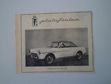 advertising Pubblicità 1959 FIAT 1500 COUPE' PININFARINA