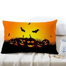 New Halloween Square Pillow Cover Cushion Case Pillowcase Zipper Closure