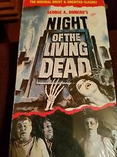 George A. Romero's Night Of The Living Dead VHS 1990 Uncut Horror Black & White
