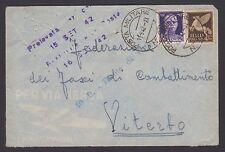 POSTA MILITARE 1942 Lettera PA da PM 68 a Viterbo (FMB)