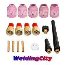 "WeldingCity  Gas Lens-Cup-Collet 0.040""~1/8"" kit T32 for TIG Torch 9/20/25"
