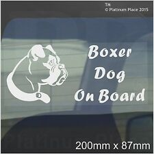 BOXER CANE A BORDO Sticker-car, van,truck,vehicle-self Adesivo Pet finestra segno