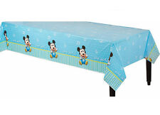 Baby Mickey 1st Birthday Plastic Table Cover Boy First Birthday Party Decoration