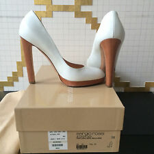 SERGIO ROSSI White Patent Leather Platform High Heels sz 38 US 7.5-8