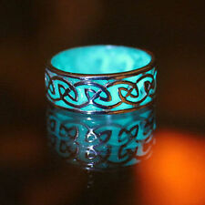 1pc Cool Men Women Retro Glow in the Dark Rings Luminous Band Ring Jewelry Chic