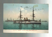 1909 Vancouver BC Canada postcard Cover USS Topeka in Long Island Sound ship