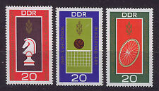 ALEMANIA RDA/GERMANY EAST WEST GDR 1969 MNH SC.1125/1127 Chess,Bycicle,Volley