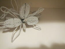 New Headband hat vintage style Glam by Pam Silver color bridal wedding formal