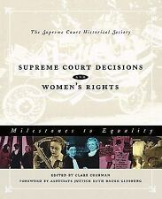 Supreme Court Decisions and Women's Rights: Milestones to Equality