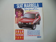 advertising Pubblicità 1991 SEAT MARBELLA SUPERSTAR