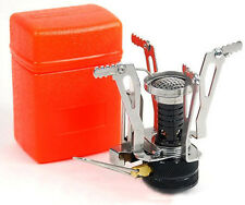 Mini Backpacking Outdoor Gas Butane Propane Canister Camping Stove Foldale NEW