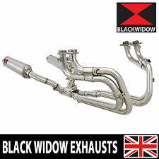 ST1100 ST 1100 Pan European Stainless Full Exhaust System 400mm Oval Silencers