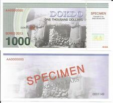 DOKDO ISLANDS 1000 DOLLARS DOKDO 2013 LOTE DE 5 BILLETES