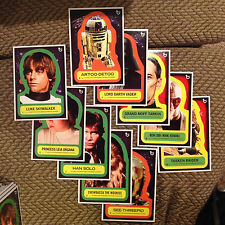 Star Wars 5x7 2015 Jumbo Reprint Sticker Set #/199 made Luke Skywalker Han Solo