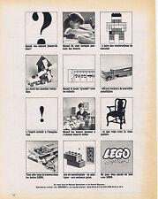 PUBLICITE ADVERTISING 094 1964  LEGO system jeux de construction