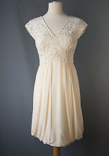 Coast Mandy dress party champagne ivory floral lace BNWT UK 8 RRP £125