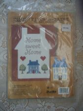 Bucilla Counted Cross Stitch Home Sweet Home Stitch-N-Paint Kit Made In USA