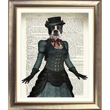 Impresión de arte en la página original Antiguo Libro Perro Animales de Terrier Vintage Diccionario