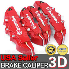 3D Brake Caliper Cover Brembo Style Big Universal Auto Disc Front Rear Kits BB12