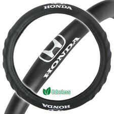 "Honda Steering Wheel Cover Small 13.5""-14.5"" Black Odorless Synthetic Leather"