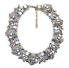 Brand New White Opal Crystal Statement Necklace Zara House of Jewels UK