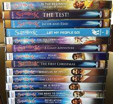13 SUPERBOOK Season 1 - All 13 NEW DVDs in Hard Case CBN Faith Family