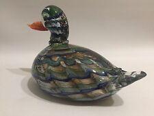 MURANO Design Glas Figur Ente 60s 70s Art Glass Duck Venini Barovier Era 60er