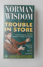 NORMAN WISDOM IN TROUBLE IN STORE VIDEO VHS 1997 107 MINS BLACK AND WHITE