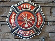Fire Dept Badge Advertising Steel Sign Police Equipment Garage Man Cave Hat