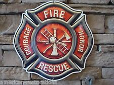 Fire Dept Badge Advertising Steel Signs Police Equipment Garage Man Cave Hat