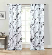 "Kensie Home Halle Gray Pole Top Panel Pair 38"" x 84"" Inches"