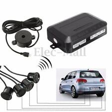 Parking 4 Sensors Car Vehicle Reverse Backup Rear Buzzer Radar Alarm System Kits